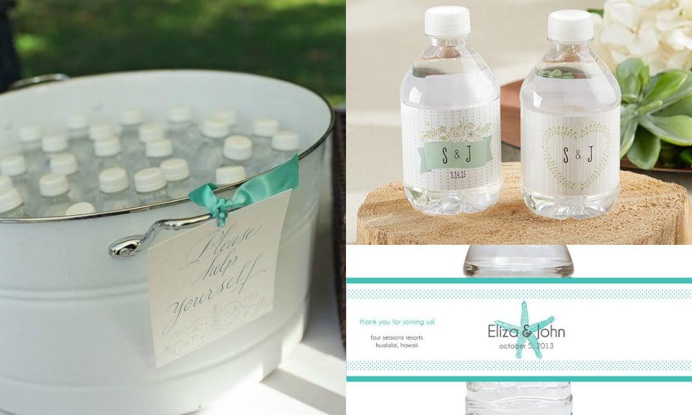bottiglie d'acqua personalizzate matrimonio