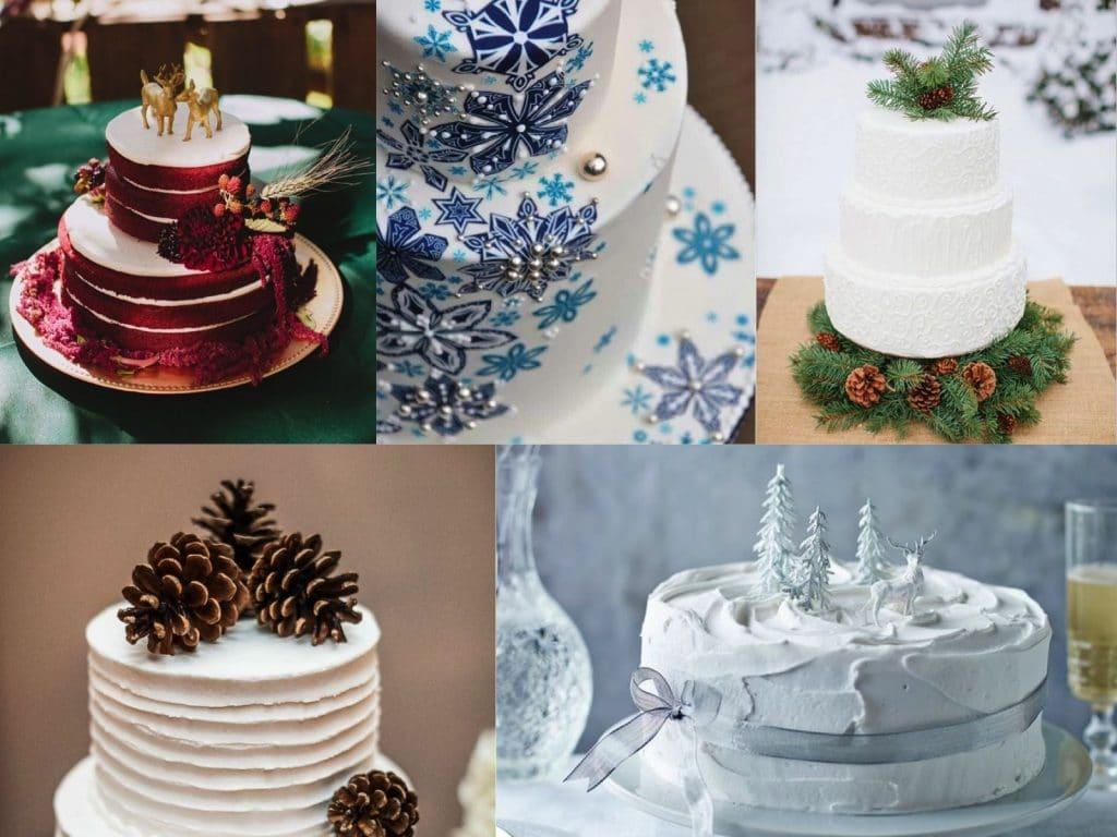 Inviti Matrimonio Natalizio : Le torte più belle per un matrimonio natalizio