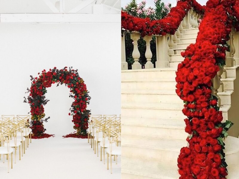 Matrimonio Tema Rose Rosse : Un matrimonio da favola la bella e bestia