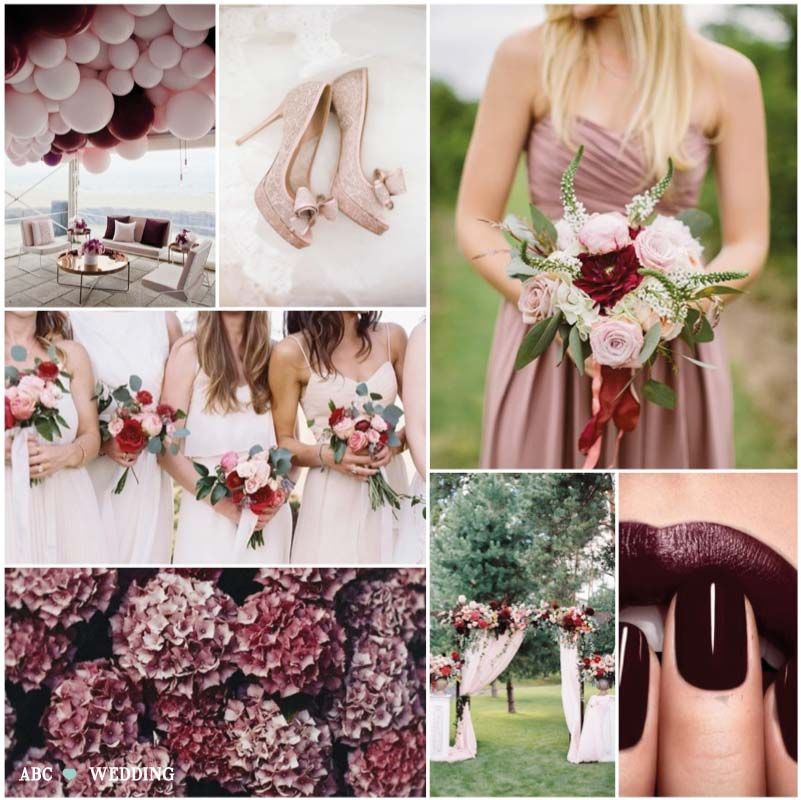Matrimonio In Bordeaux : Colori matrimonio 2018: bordeaux collection
