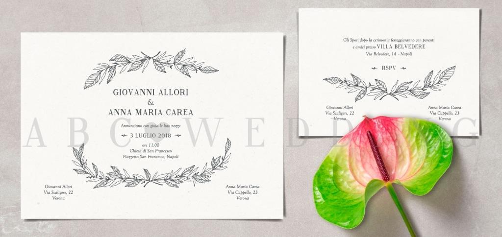 Inviti Matrimonio Simbolico : Partecipazioni matrimonio la grafica completa per le tue
